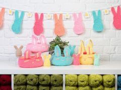Spring Bunting, Baskets and Egg Cosies Crochet Kit and Pattern in Deramores Studio Baby Soft DK Yarn