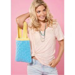 Easy Basketweave Bag Knitting Pattern