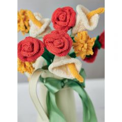 Easy Knit Flower Bouquet Knitting Pattern