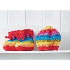 Easy Stripy Baby Set Knitting Pattern