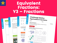 Equivalent Fractions Year Three Fractions Maths Challenge