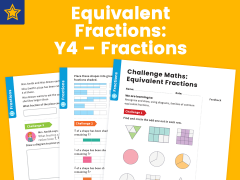 Equivalent Fractions Year Four Fractions Maths Challenge
