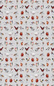 Farmyard Frolics Cotton Tea Towel