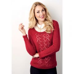 Festive Lace Jumper Knitting Pattern