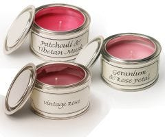 Filled Candle Tins - Floral - Pack of Three