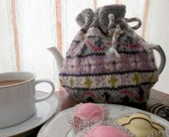 Flower Fairisle Tea Cosy