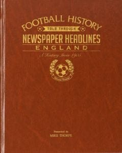 Football Newspaper Book - England