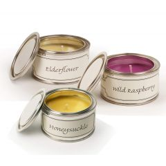 Filled Candle Tins - Hedgegrow - Pack of Three