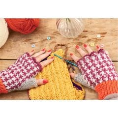 Houndstooth Mittens Knitting Pattern