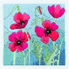 Poppies Long Stitch Picture Kit