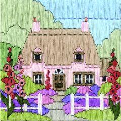 Hollyhock Cottage Long Stitch