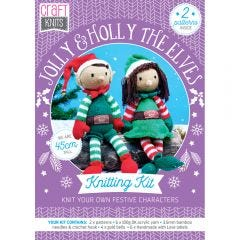 Jolly and Holly the Elves Downloadable Knitting Pattern