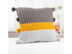 Knitted Cushion by Lynne Rowe in Deramores Studio Aran
