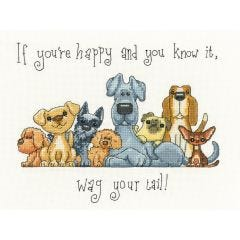 Counted Cross Stitch Kit: If You're Happy… Wag Your Tail