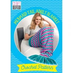 Mermaid Tail Adult Blanket Physical Crochet Pattern