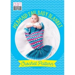 Mermaid Tail Baby Blanket Physical Crochet Pattern