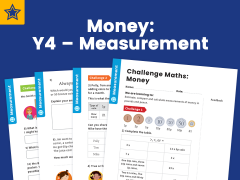 Money Year 4 Measurement Maths Challenge