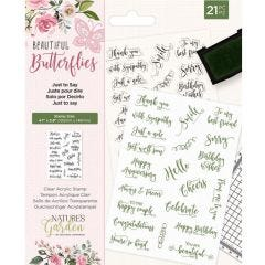Natures Garden - Clear Acrylic Stamp - Just to Say