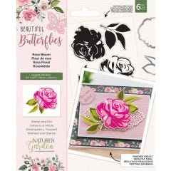Natures Garden - Stamp and Die - Rose Bloom