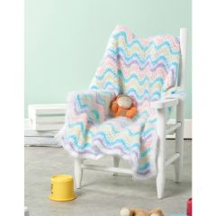 Fluffy Pastel Baby Blanket Knitting Pattern