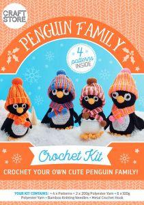 Penguin Family Physical Crochet Pattern