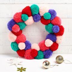 Pom Pom Wreath Pattern