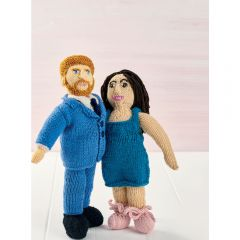 Prince Harry & Meghan Knitted Dolls Knitting Pattern