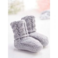 Quick Cable Baby Boots Knitting Pattern