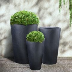 Light Concrete Round Vase Planter