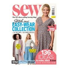 Sew Subscription (Navy Floral Cotton & Pattern Size 14-22)
