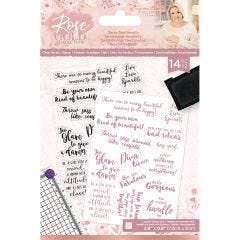 Rose Gold - A6 Clear Acrylic Stamp - Sassy Sentiments
