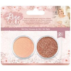Rose Gold - Embossing Powder and Fine Glitter