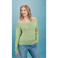 Scallop Edged Sweater Knitting Pattern