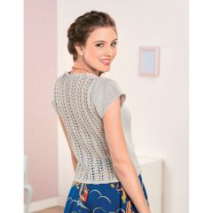 Silvery Lace Back Top Knitting Pattern