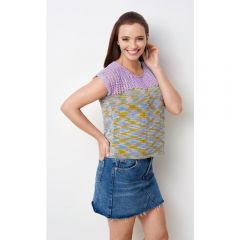 Simple Eyelet Sleeveless Top Knitting Pattern