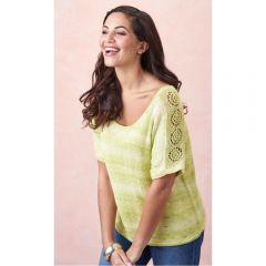 Simple Lacy T-shirt Knitting Pattern