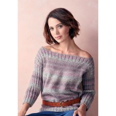 Easy Slash Neck Sweater Knitting Pattern
