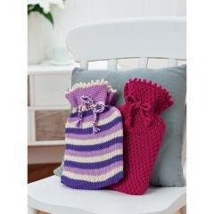 Snug Hot Water Bottle Cosies Knitting Pattern