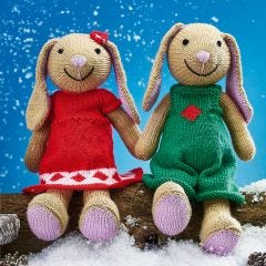 Sparkle and Star Bunnies Pattern