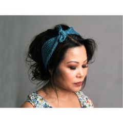 Stylish Short Row Knotted Headband Knitting Pattern
