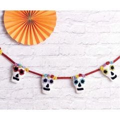 Sugar Skull Bunting Knitting Pattern