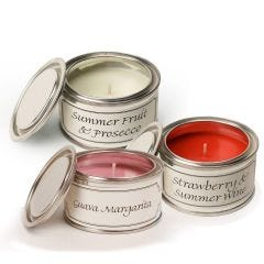 Filled Candle Tins - Summer Days - Pack of Three