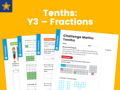 Tenths Year Three Fractions Maths Challenge