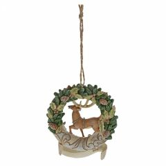 Woodland 2019 Deer Wreath (Hanging Ornament)